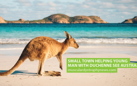 Small Town Helping Young Man With Duchenne See Australia