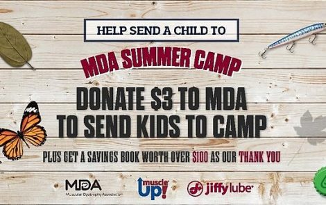 Jiffy Lube, MDA Launch 6th Annual MUSCLE UP! Campaign